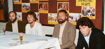 Fink, Krois,Zenker und Patzak bei der Eröffnungdes FKC Dornbirn